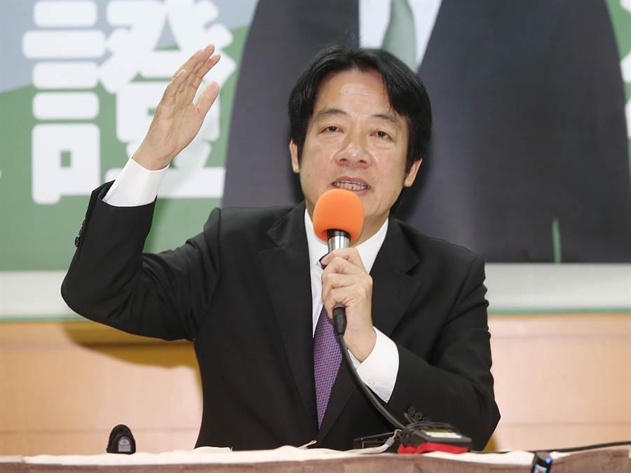 前行院長賴清德1日舉行「守護台灣」記者會,並強調他是最有實力可以打敗國民黨的人選。(姚志平攝)