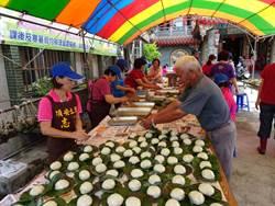 歡慶端午 中市大安區頂安社區長輩包粽、做草仔粿比賽
