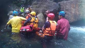 南澳金岳瀑布 男子溺水