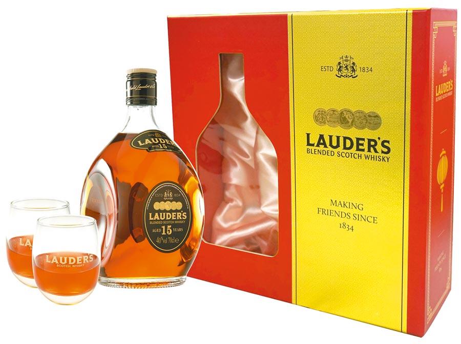 英國勞德老爺15年蘇格蘭威士忌紅金禮盒,建議售價1135元。(圖片提供橡木桶)