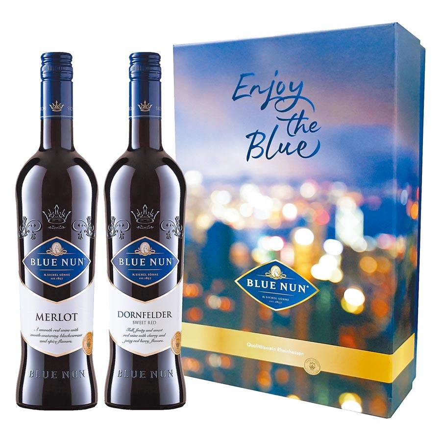 藍仙姑丹非特梅洛純釀紅葡萄酒禮盒,建議售價959元。(圖片提供橡木桶)
