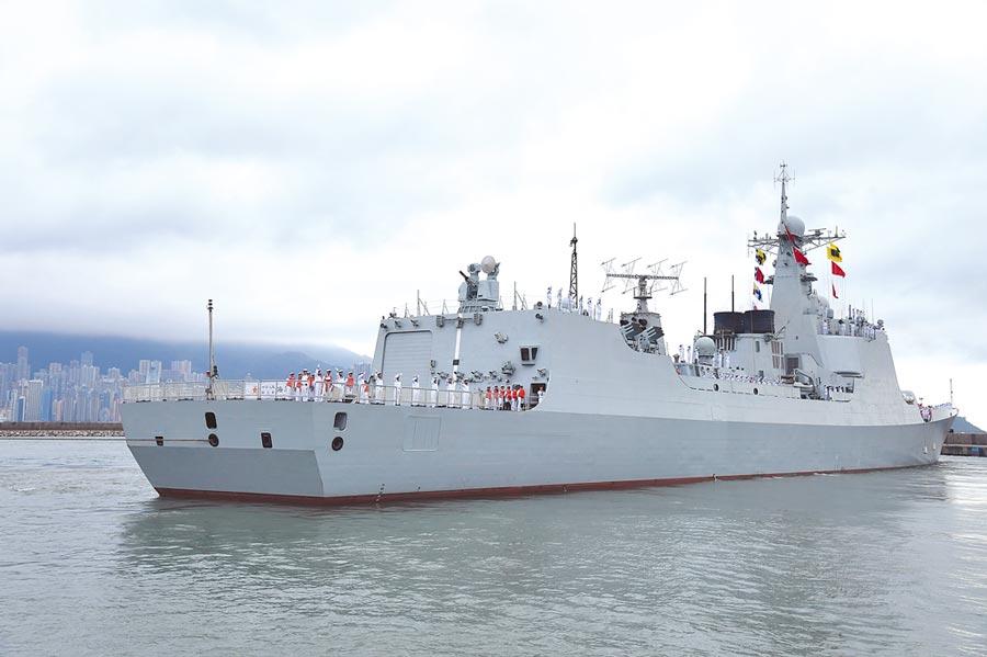 解放軍海軍飛彈驅逐艦海口艦。(中新社資料照片)