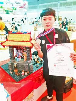「歌仔戲」變糕點  城市科大生獲泰國廚藝賽銀牌