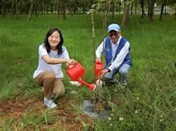 寶成集團慶50周年 蔡佩君種樹愛地球