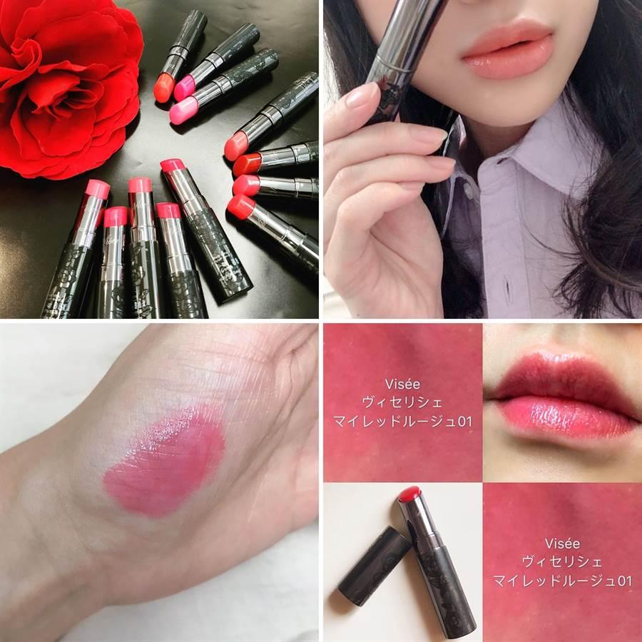Visée訂製漾彩潤唇膏 全12色 3.8g/430元  今年夏天會大流行的水光感雙唇,如果沒太多購物預算,其實開架品牌也有同樣妝效的唇彩喔。