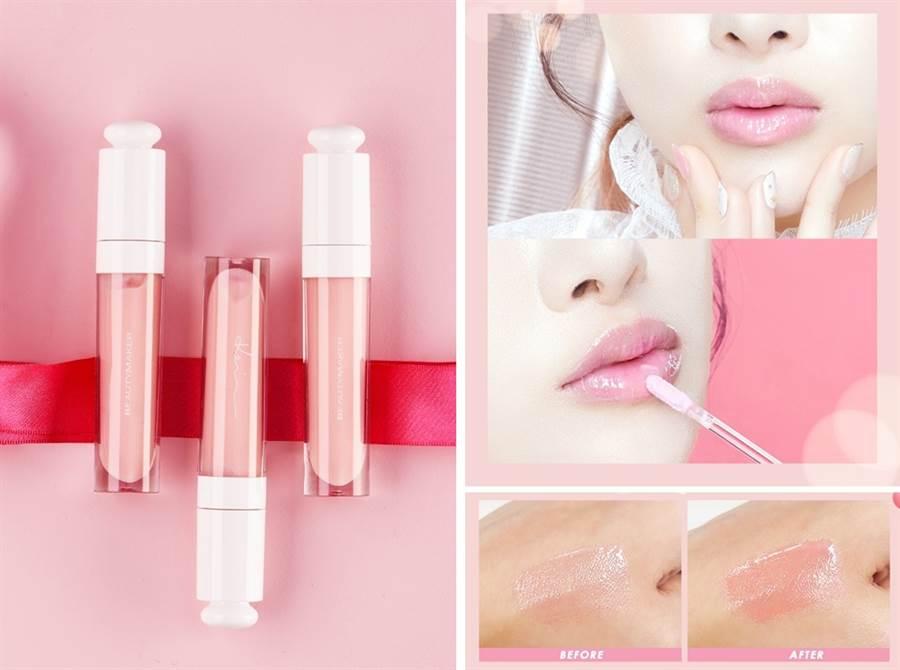 BeautyMaker粉漾護色潤唇露/320元  可以溫控變色的這個技術,讓每個女孩塗上它的顏色都是獨一無二。
