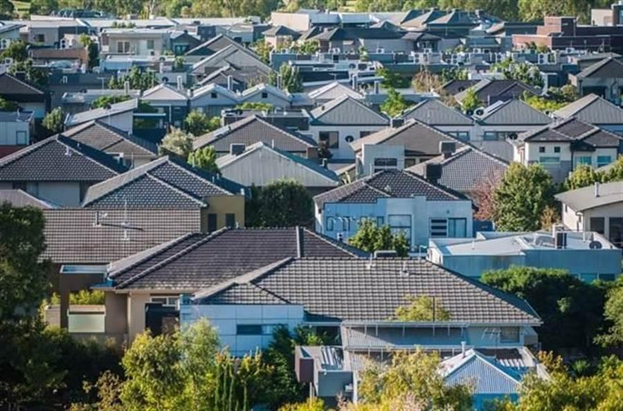 澳洲墨爾本郊區的住宅房。(示意圖/Shutterstock)