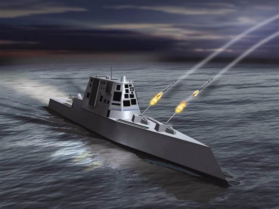 最適合安裝電磁砲的是朱瓦特級驅逐艦,但該型艦只有3艘。(圖/洛克希德馬丁)