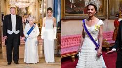 凱特穿深V禮服迎川普!榮譽勳章亮相