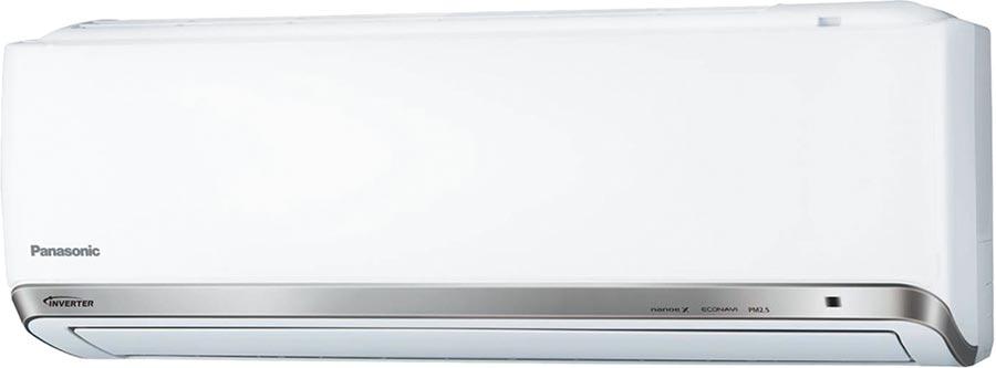 家樂福Panasonic國際牌變頻一對一分離式冷氣CU/CS-PX28FCA2,能源效率1級,適用4至5坪、PM2.5燈號數字顯示,3萬3300元。(家樂福提供)