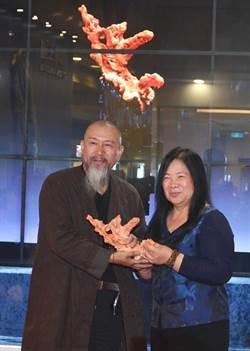 陸玉雕大師吳德昇作品「和諧」贈綺麗珊瑚博物館