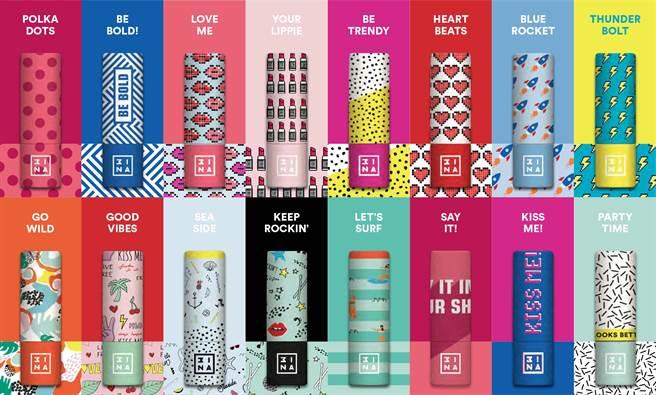 潮妝品牌3INA推FUN肆玩色脣膏。(3INA提供)