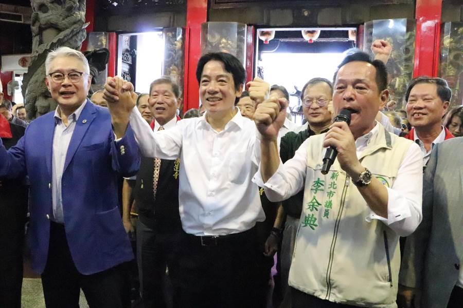賴清德受訪時自豪表示,自己的治理能力絕對比柯、韓還好,更強調「我是黨內最強候選人」。(吳亮賢攝)