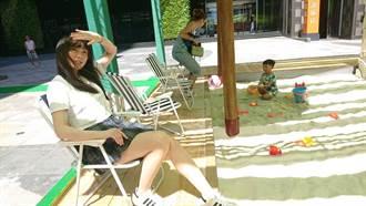 連鎖百貨生日慶 西門廣場打造15米白沙灘
