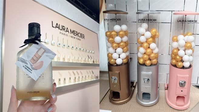 法式飲品和美妝扭蛋機。(圖/邱映慈攝影)