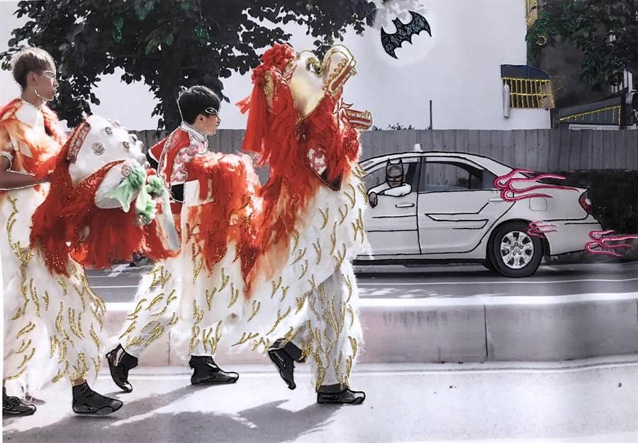 邱國峻結合刺繡於攝影作品中,凸顯台灣獨特的民俗文化。(邱國峻提供)