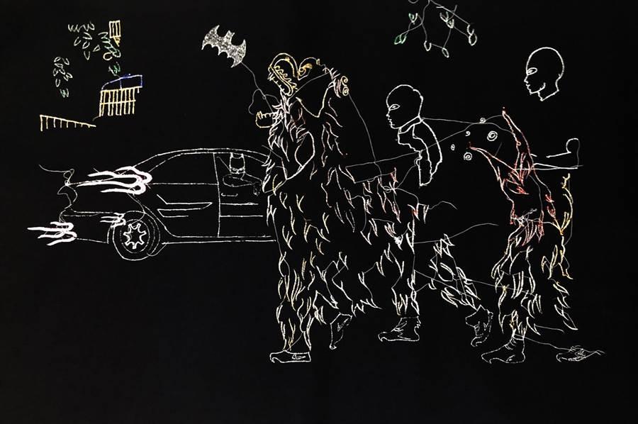 邱國峻結合刺繡(圖)於攝影作品中,凸顯台灣獨特的民俗文化。(邱國峻提供)
