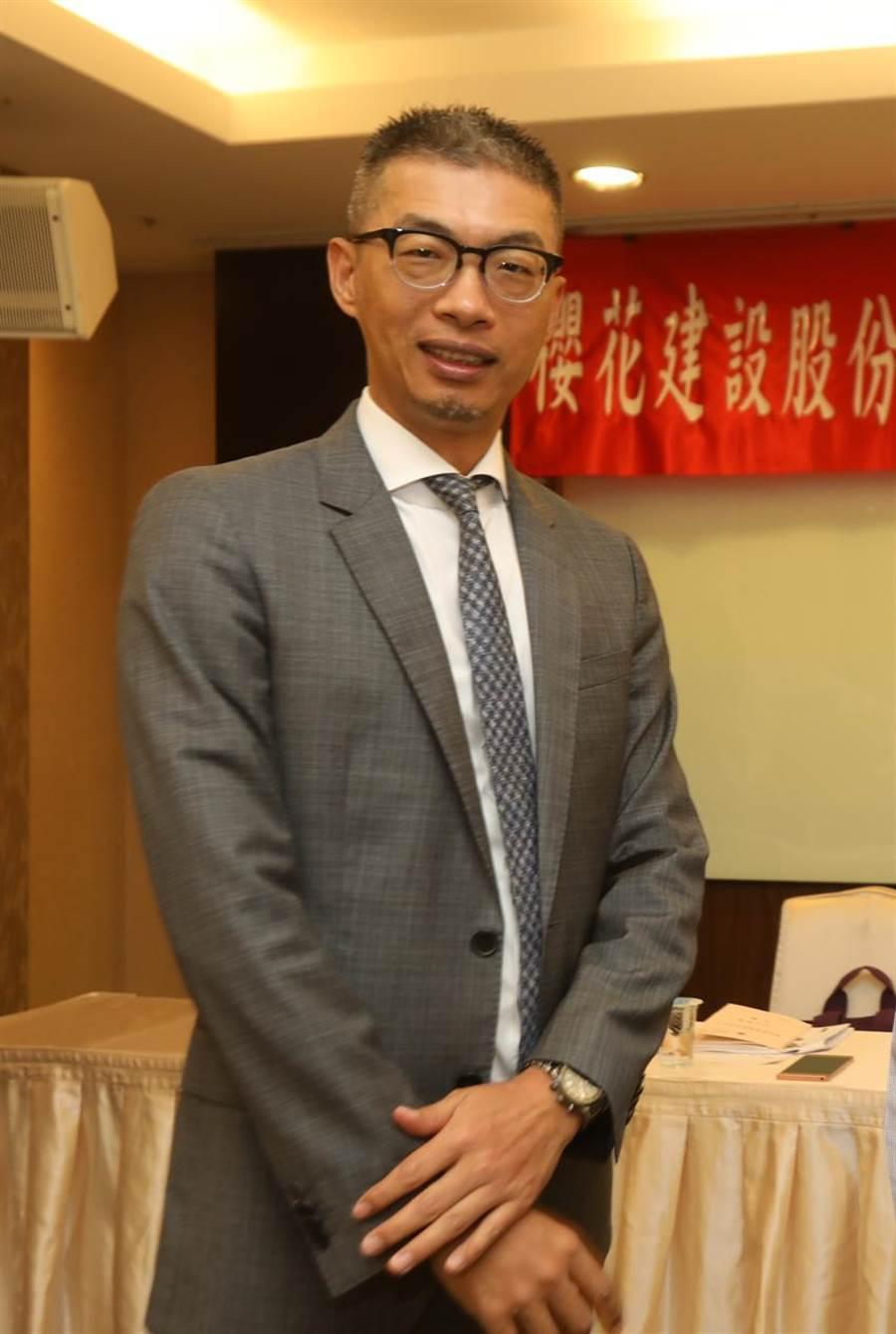 櫻花建設總經理陳世英指出,2019年預計推案量達55億元。(圖:曾麗芳)