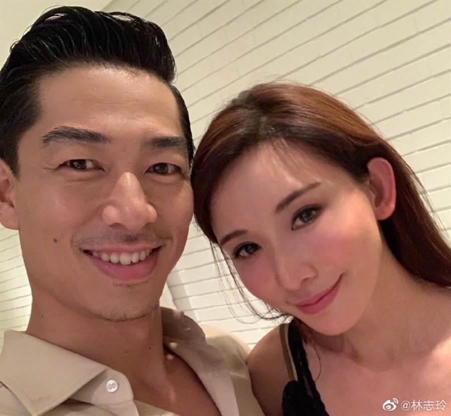 林志玲閃婚日本放浪兄弟EXILE AKIRA,兩人相差7歲。(取自林志玲微博)