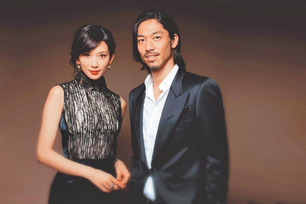 林志玲結婚照。(取自微博@EXILE-AKIRA)