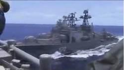 美俄軍艦險在東海相撞 互相指責