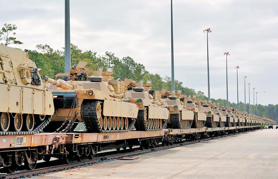 美國擬大規模軍售台灣,包含108輛M1A2戰車。(取自美國陸軍官網)