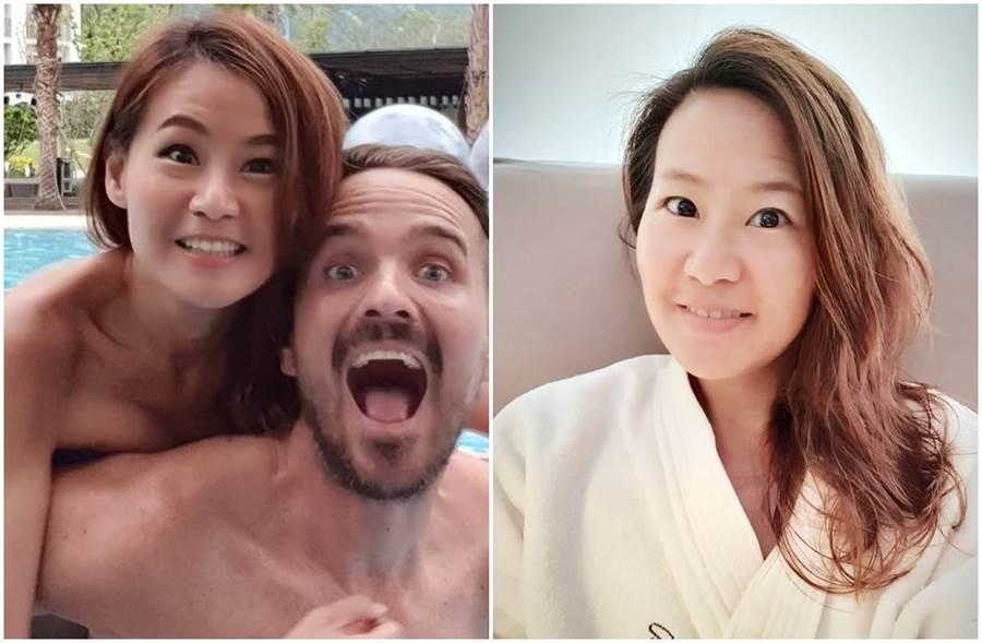 林志玲閃嫁AKIRA,讓兩性專家欣西亞大讚有決心。(圖/欣西亞臉書)