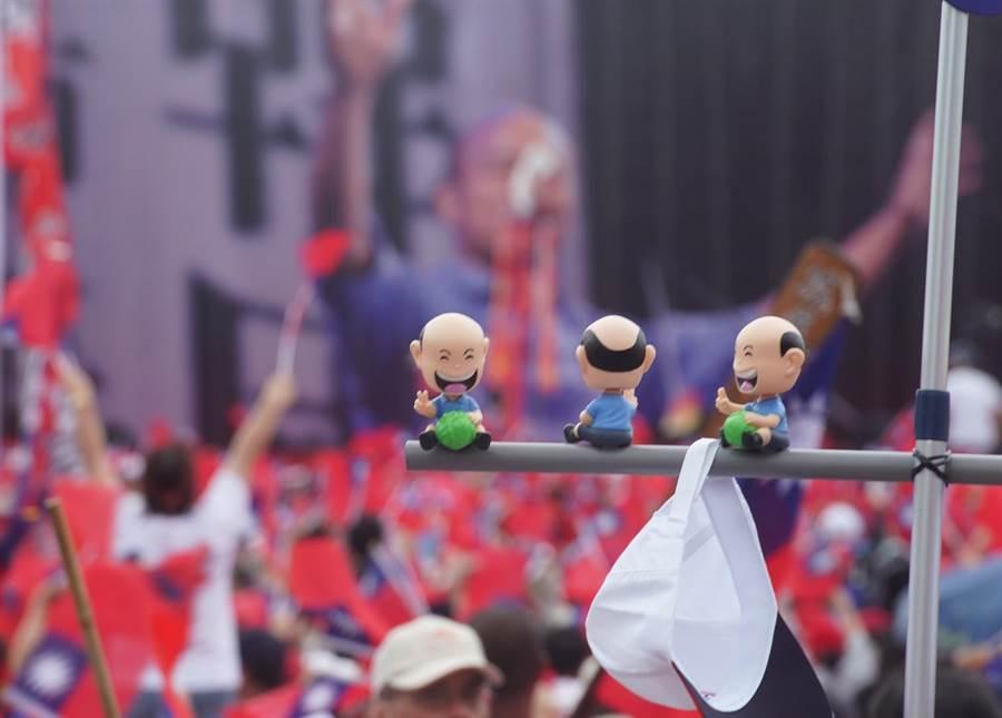 「決戰2020·贏回台灣」韓國瑜前進東台灣全民花蓮見造勢大會8日在花蓮市登場。(季志翔攝)