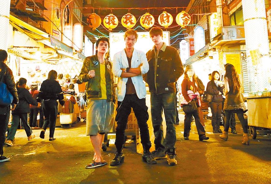 山本裕典(左起)、AKIRA及城田優曾在台拍攝《麻辣教師GTO》台灣篇。