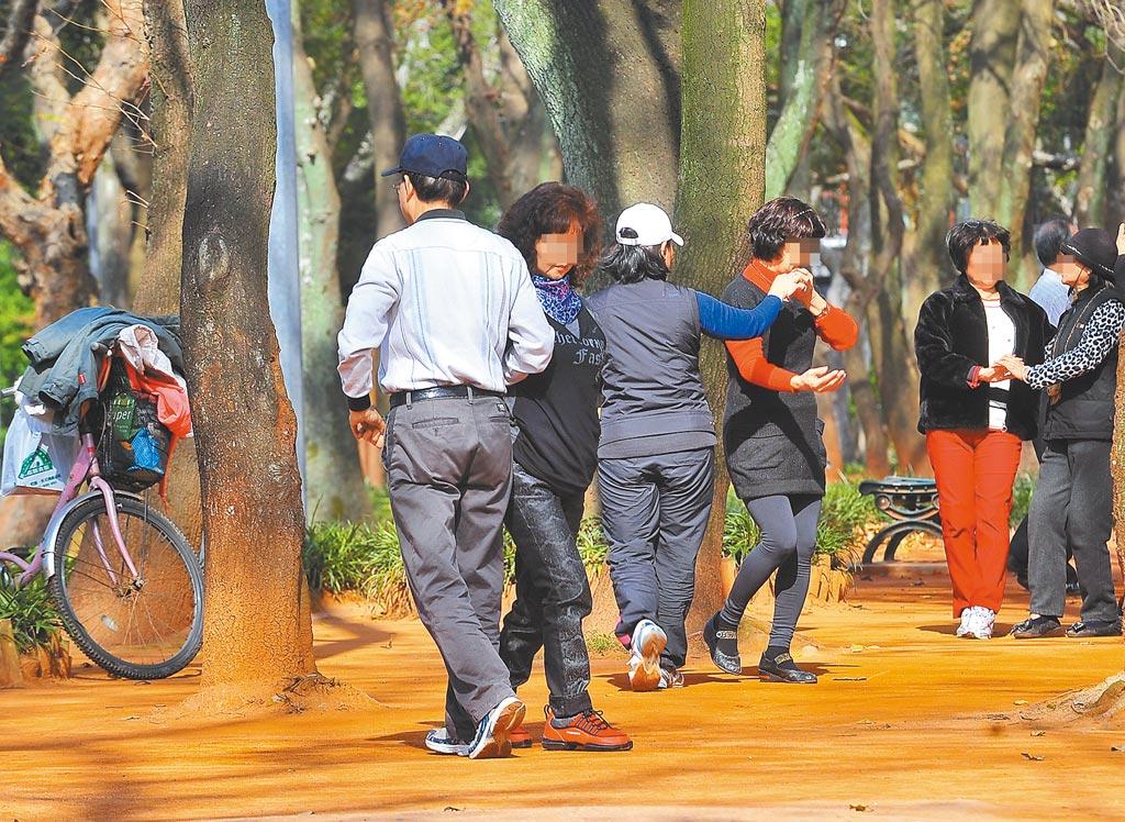 民眾喜歡在廣場或公園裡隨樂音起舞,未料音量過大引發附近居民抗議。(本報資料照片)