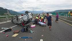 端午收假 國6休旅自撞翻覆1死2傷