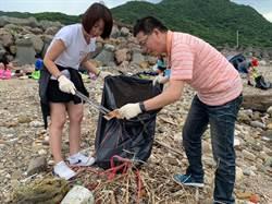 藍委北海岸淨灘 籲重視海洋污染防治