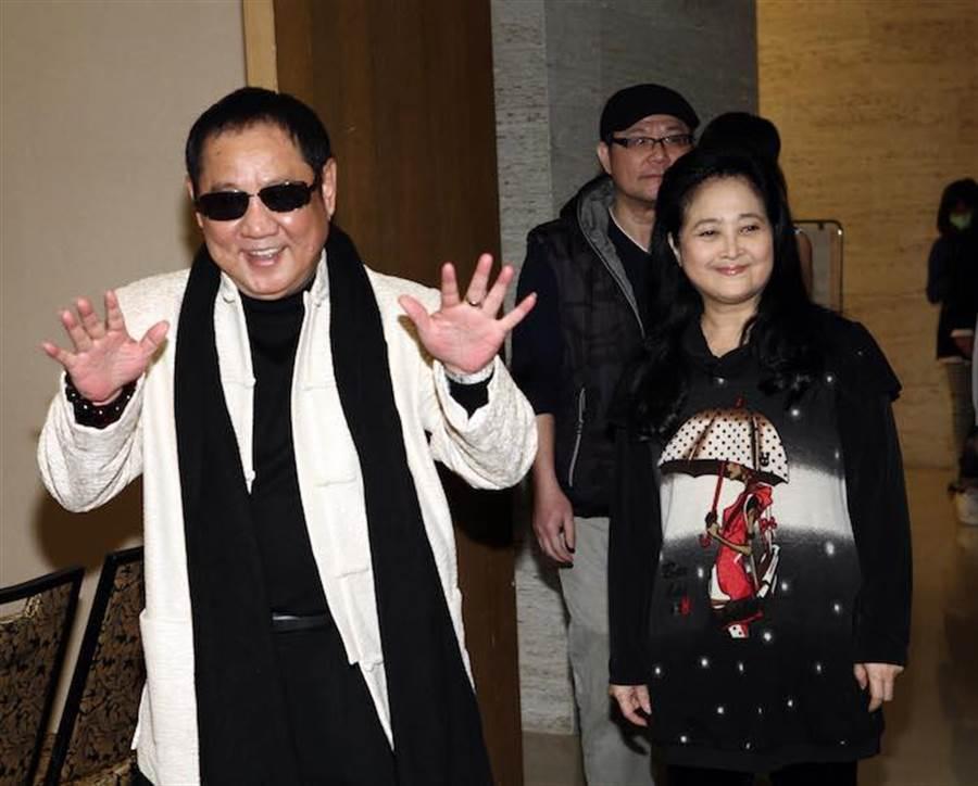 馬如龍(左)與沛小嵐(右)感情甚好,約定要當七世夫妻。(資料照)
