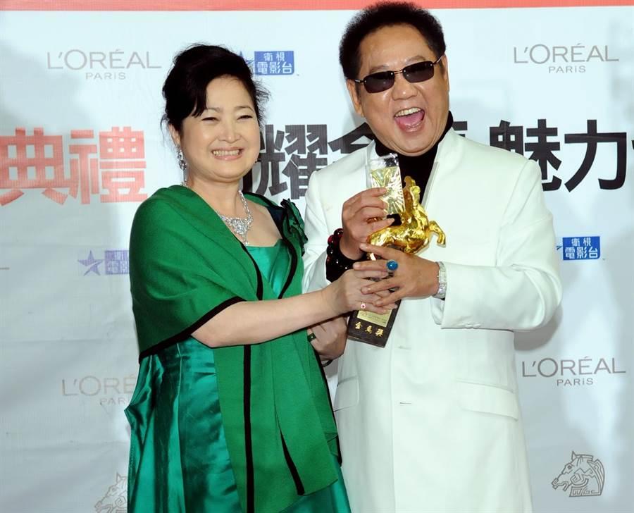 馬如龍(右)與妻子沛小嵐(左)。(資料照)