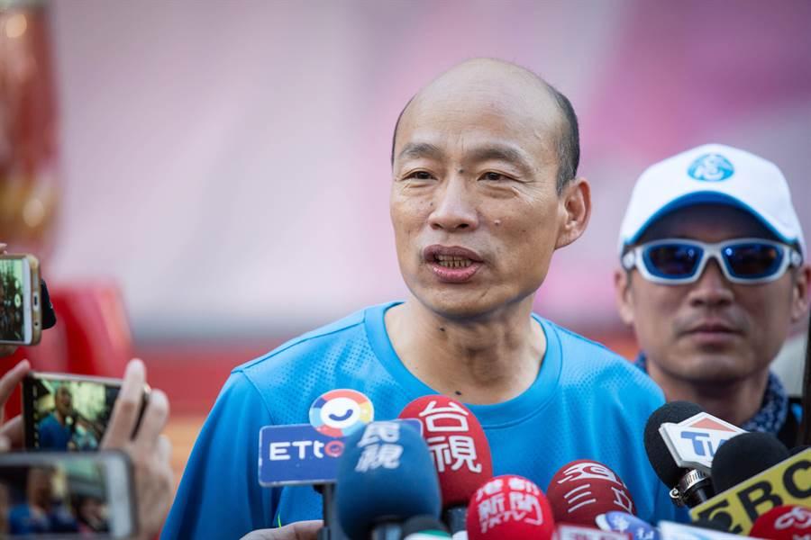 韓國瑜強調,選後都有向王金平及陳宜民道謝,可能他們沒感受到,或覺得謝得不夠,這部分他會檢討改進。(袁庭堯攝)
