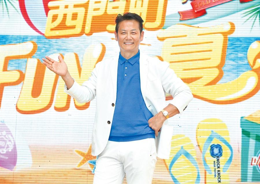 徐乃麟昨現身西門町宣傳新節目。(粘耿豪攝)