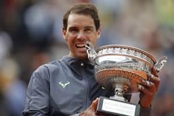 法網》納達爾快意三連霸 同一四大賽12冠第一人