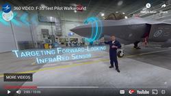 立即體驗!試飛官導覽 F35戰機 360°互動虛擬座艙上線