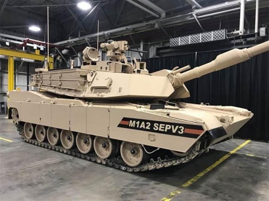 美陸軍最新升級版M-1A2C SEPV3艾布蘭坦克是美軍最強裝甲戰車,即將服役,與傳已確定售台的M-1A2X為同系列。(圖/美國陸軍)