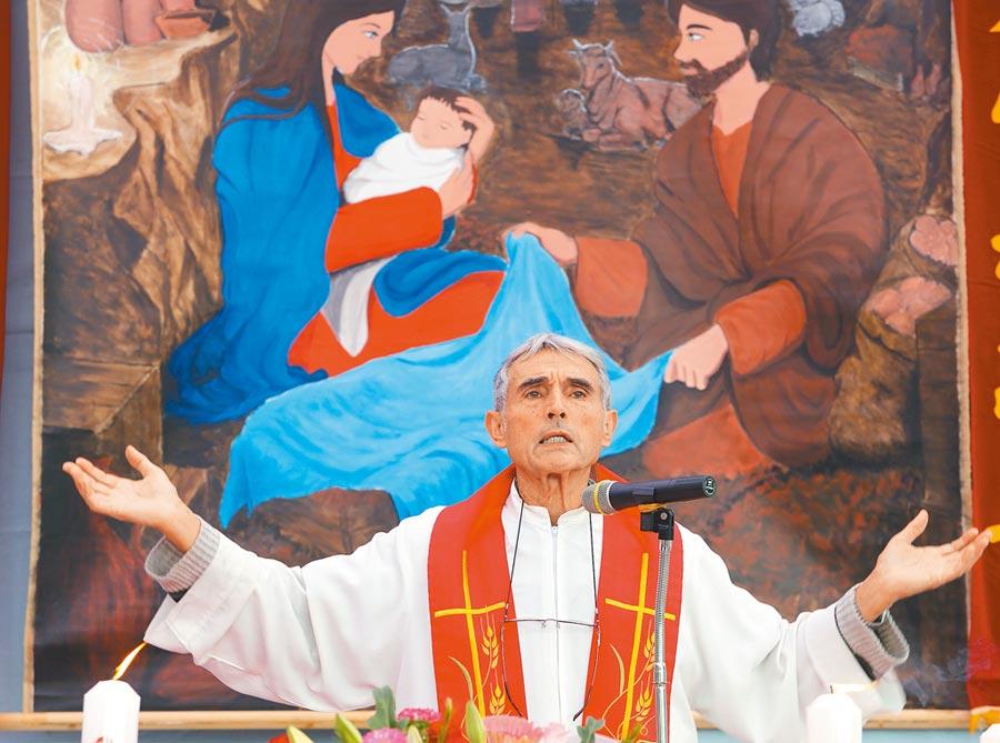 出生法國布列塔尼的劉一峰神父,來台傳教已逾半世紀。(本報資料照片)