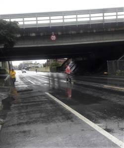 大雨造成岡山部分地區淹水 積水已退