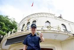 名畫家筆下的第一警分局 製成警察節紀念杯