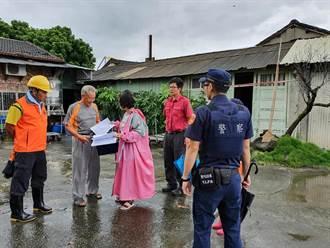 嚴防豪雨北港溪泛濫 防災隊勸導民眾疏散