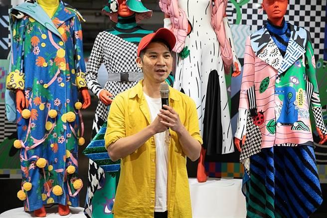 策展人顏寧志邀請7位藝術家與徵募33位創作者,展現多元印花技法與豐富面向。(圖取自台灣設計館粉絲頁)