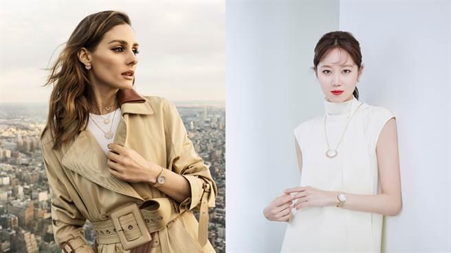 伯爵品牌之友Olivia Palermo、伯爵亞太區品牌大使孔曉振。(圖/品牌提供)