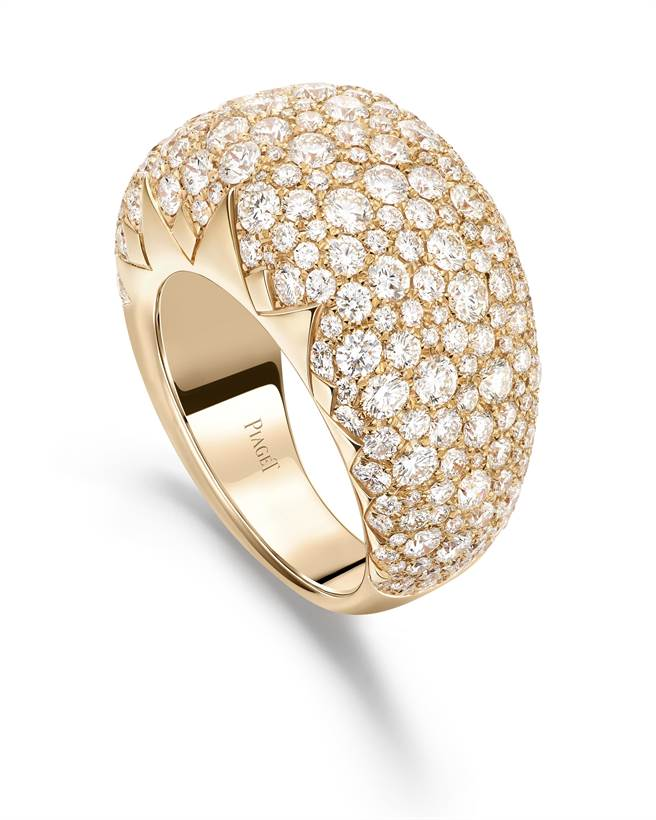 伯爵Sunlight系列18K玫瑰金鑲鑽戒指,83萬元。(PIAGET提供)