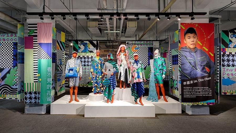 李嘉泉用主視覺元素創作全新印花服裝系列。(圖取自台灣設計館粉絲頁)