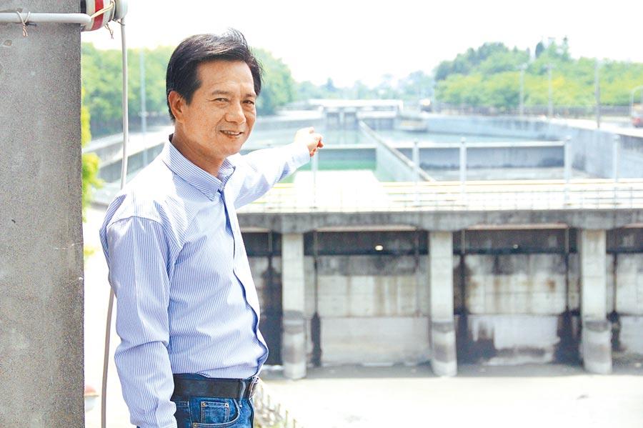 雲林縣多位議員建議啟用林內焚化廠,林內鄉長張維崢強烈反對,指離淨水廠太近,圖為林內淨水廠。(許素惠攝)