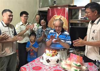 澎湖榮民陳甫全歡度百歲 榮服處登門祝賀