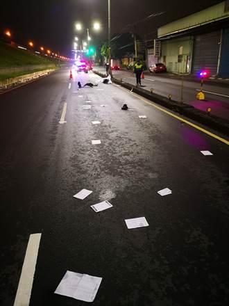 19歲男疑撞分隔島摔對向車道 遭18歲男輾爆頭
